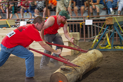 Lumberjacks competing